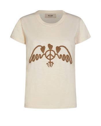Mos Mosh t-shirts 136390 in het Ecru