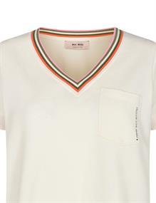 Mos Mosh t-shirts 136540 in het Ecru