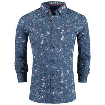 New Zealand Auckland casual overhemd 19an503 in het Blauw