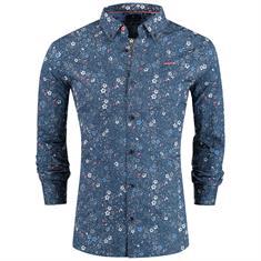 New Zealand Auckland overhemd 19an503 in het Blauw