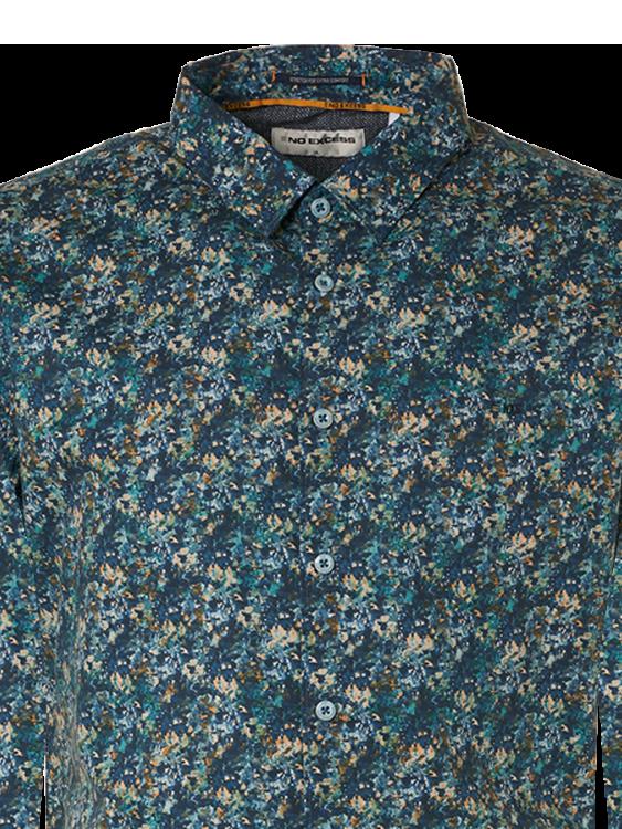 No Excess casual overhemd 11410209 in het Blauw