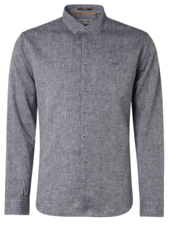 No Excess casual overhemd 11410277 in het Donker Blauw