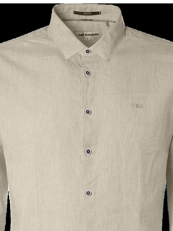 No Excess casual overhemd 11410277 in het Kaky