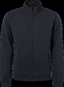 No Excess gebreid vest Slim Fit 92100907 in het Donker Blauw