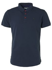 No Excess polo's Slim Fit 95370104N in het Donker Blauw