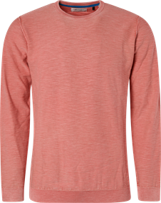 No Excess ronde hals trui Slim Fit 95230107 in het Oranje
