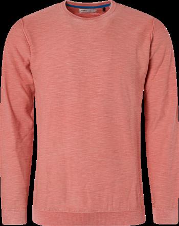 No Excess ronde hals trui Slim Fit 95230107 in het Oranje