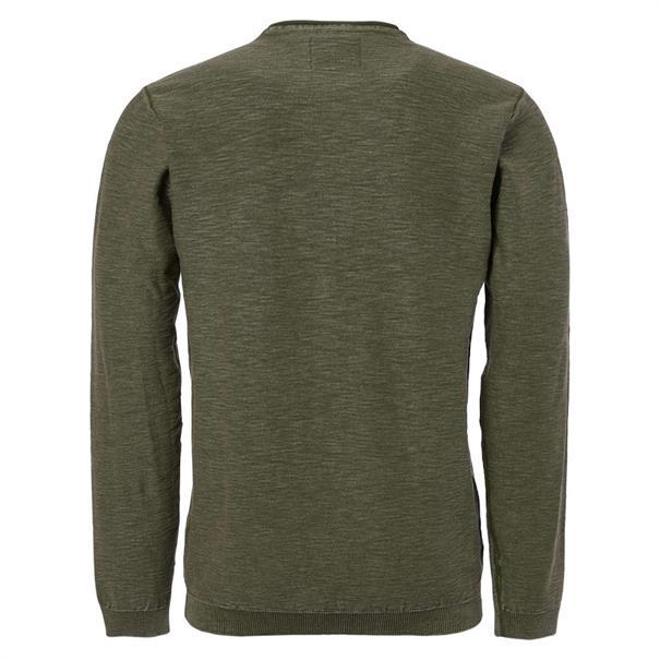 No Excess truien Slim Fit 92230702 in het Groen