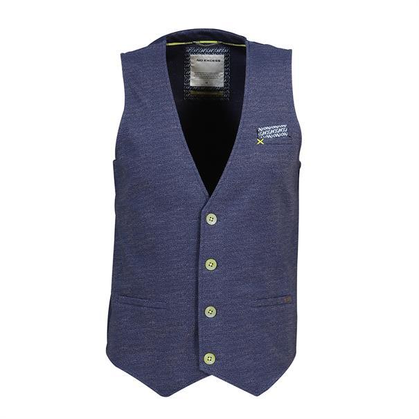 No Excess vesten Slim Fit 95640203 in het Donker Blauw