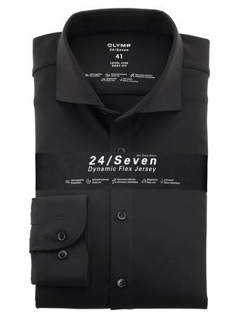 OLYMP business overhemd Body fit 200684 in het Zwart
