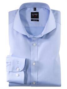 OLYMP business overhemd Body fit 200764 in het Licht Blauw