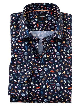 OLYMP business overhemd Body fit 201574 in het Marine