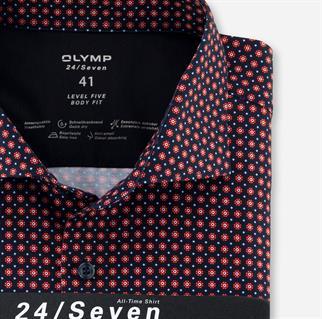 OLYMP business overhemd Body fit 201884 in het Rood