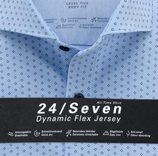 OLYMP business overhemd Body fit 202084 in het Blauw