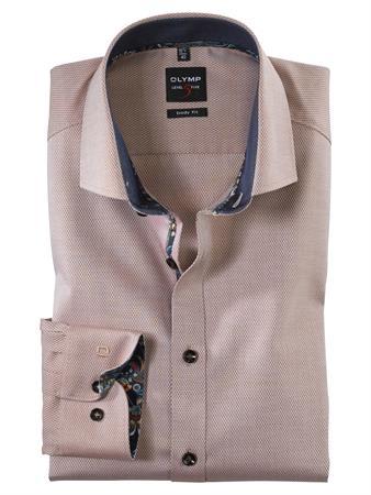 OLYMP business overhemd Body fit 202864 in het Beige