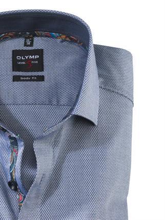 OLYMP business overhemd Body fit 202864 in het Marine