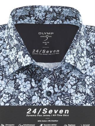 OLYMP business overhemd Body fit 203274 in het Blauw