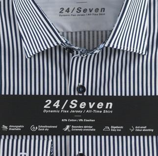 OLYMP business overhemd Body fit 204074 in het Marine