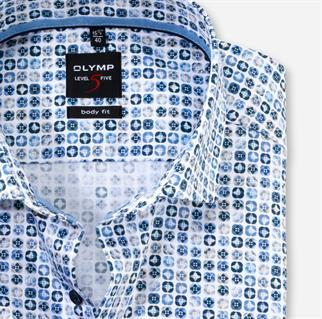 OLYMP business overhemd Body fit 210074 in het Blauw