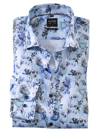 OLYMP business overhemd Body fit 211074 in het Blauw