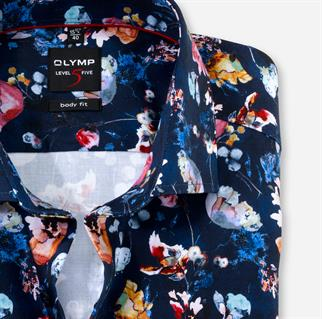 OLYMP business overhemd Body fit 211074 in het Marine