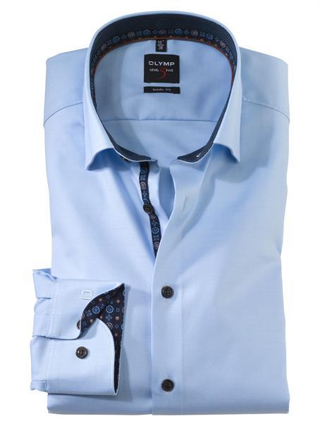 OLYMP business overhemd Body fit 214264 in het Licht Blauw