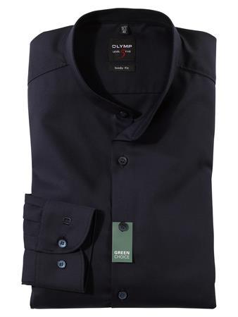 OLYMP business overhemd Body fit 214684 in het Donker Blauw
