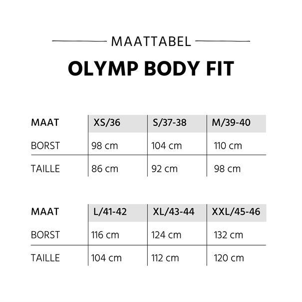 OLYMP business overhemd Body fit 609064 in het Zwart