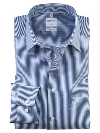 OLYMP business overhemd Comfort Fit 072664 in het Marine