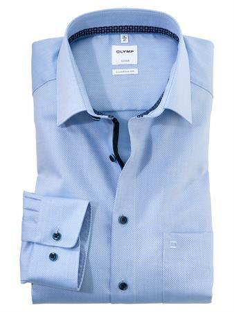 OLYMP business overhemd Comfort Fit 106274 in het Blauw