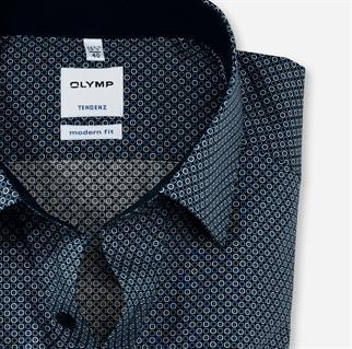 OLYMP business overhemd Comfort Fit 861464 in het Blauw