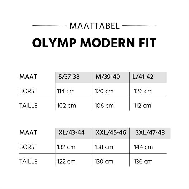 OLYMP business overhemd Modern Fit 030464 in het Licht Blauw