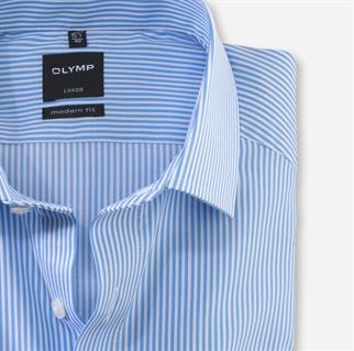 OLYMP business overhemd Modern Fit 074664 in het Blauw