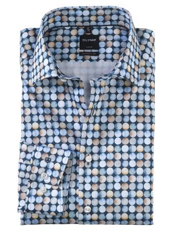 OLYMP business overhemd Modern Fit 121974 in het Blauw