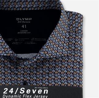 OLYMP business overhemd Modern Fit 122284 in het Donker Rood