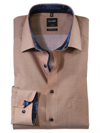 OLYMP business overhemd Modern Fit 124264 in het Beige