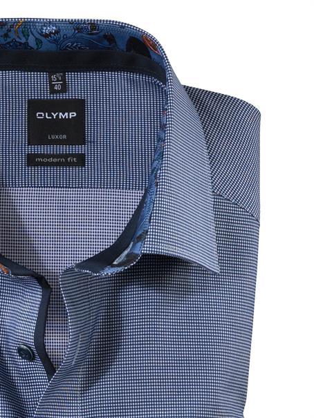 OLYMP business overhemd Modern Fit 124264 in het Marine