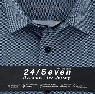 OLYMP business overhemd Modern Fit 125274 in het Marine