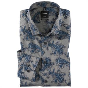 OLYMP business overhemd Modern Fit 125464 in het Marine