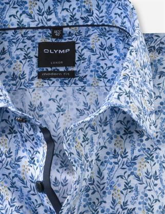 OLYMP business overhemd Modern Fit 131674 in het Blauw