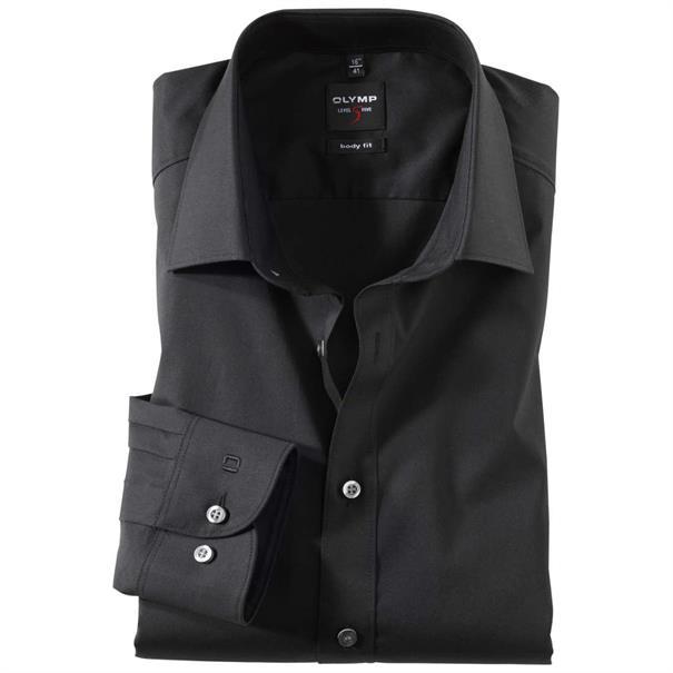 OLYMP business overhemd Slim Fit 609064 in het Zwart