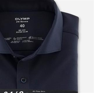 OLYMP business overhemd Super Slim Fit 250284 in het Marine