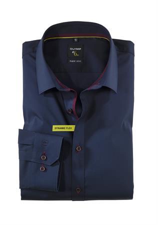 OLYMP business overhemd Super Slim Fit 250824 in het Marine