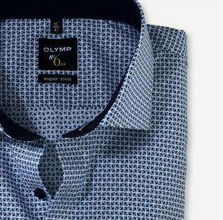 OLYMP business overhemd Super Slim Fit 256684 in het Marine