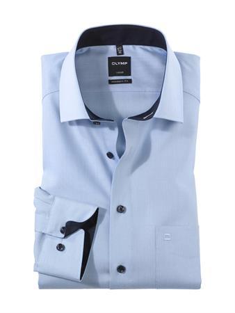 OLYMP extra lange mouw overhemd 040069 in het Hemels Blauw