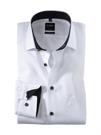 OLYMP extra lange mouw overhemd 040069 in het Wit