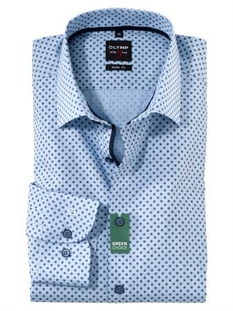 OLYMP extra lange mouw overhemd Body fit 213489 in het Blauw