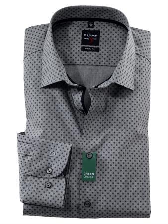 OLYMP extra lange mouw overhemd Body fit 213489 in het Zwart