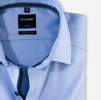 OLYMP extra lange mouw overhemd Modern Fit 126279 in het Blauw