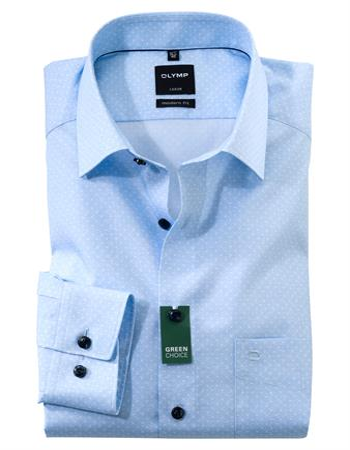 OLYMP extra lange mouw overhemd Modern Fit 128889 in het Blauw